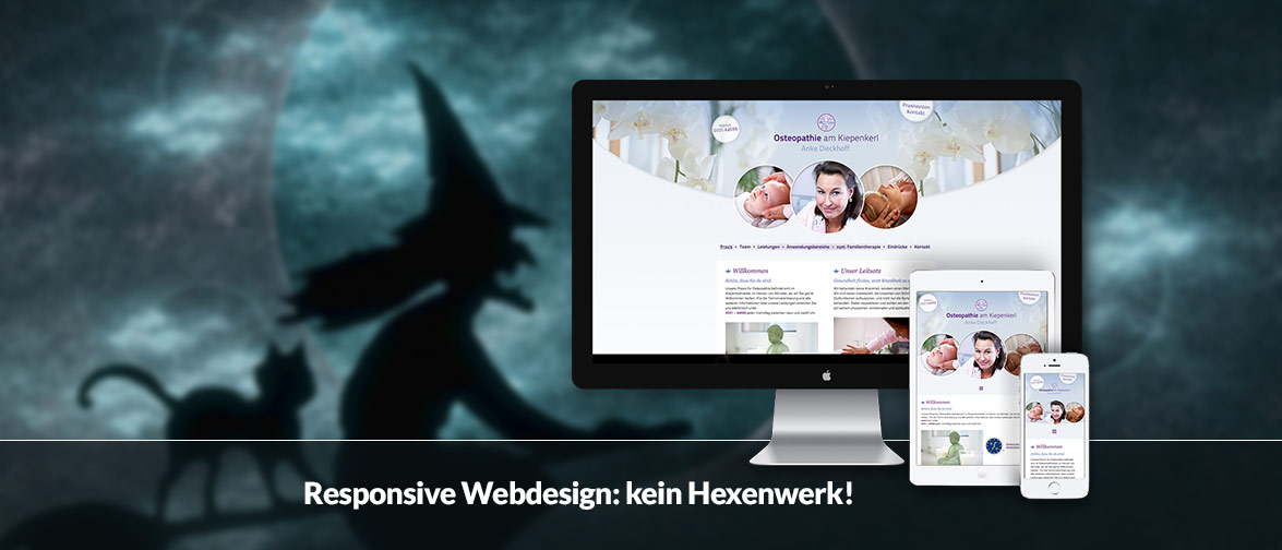 Haben Sie Ihre Website schon für mobile Geräte optimiert? Responsive Webdesign: kein Hexenwerk!