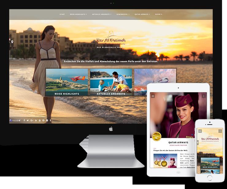 Qatar Airways - Ras Al Khaimah Microsite