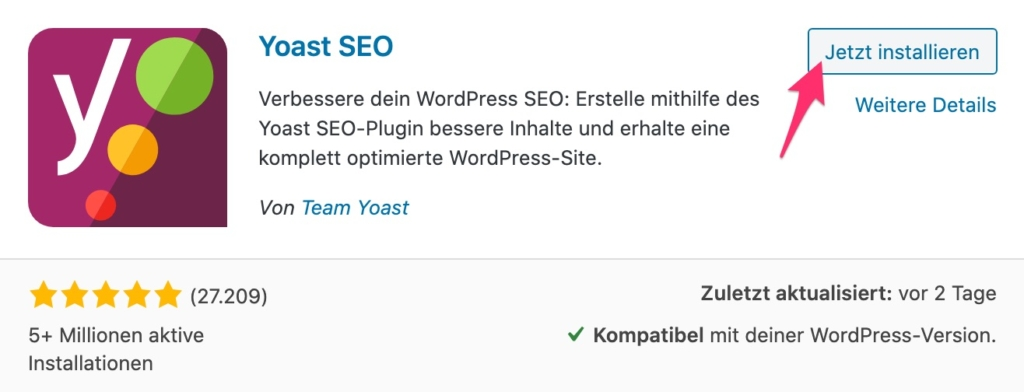 YOAST SEO Installation in 2020