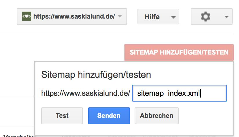 Google Search Console - Sitemap einreichen