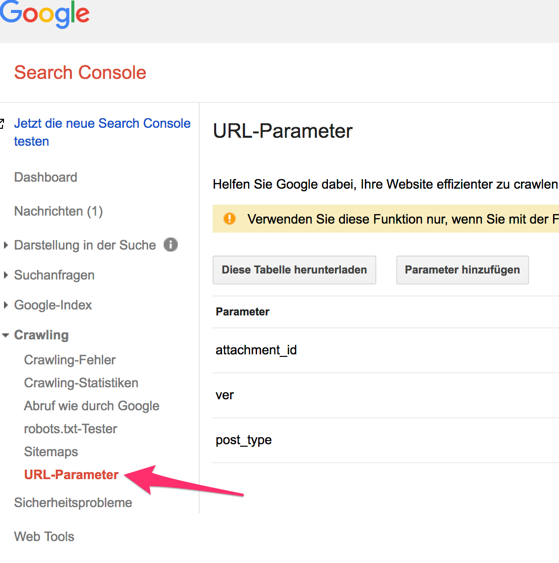 Google Search Console - URL-Parameter - replytocom