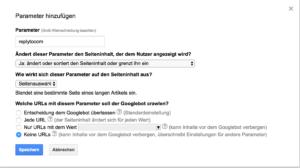 Google Search Console - URL-Parameter replytocom richtig einstellen