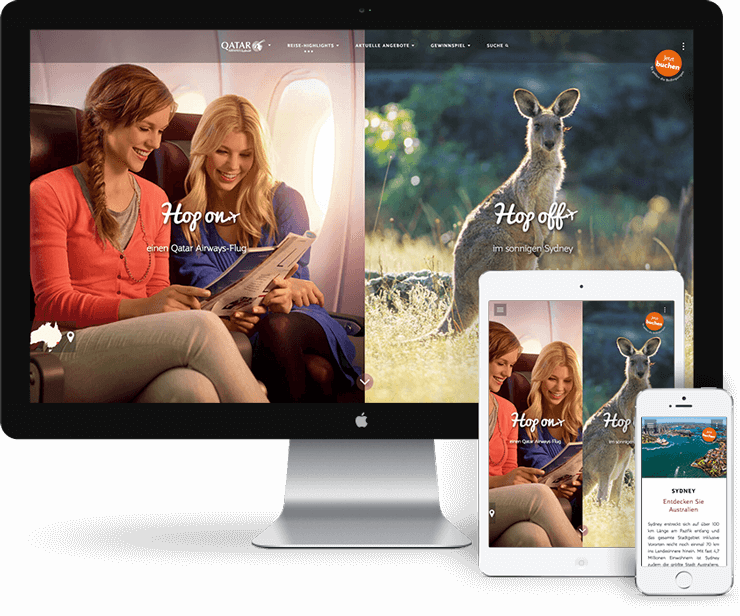 Microsite Sydney für Qatar Airways | SL IT&WEBDESIGN