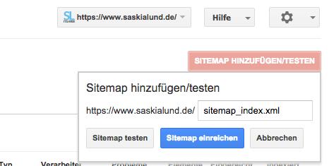 Sitemap in der Google Searchconsole einreichen