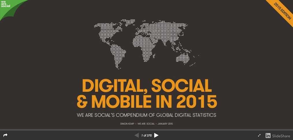We share - Digital, Social & Mobile in 2015