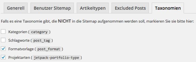 Yoast SEO XML Taxonomien