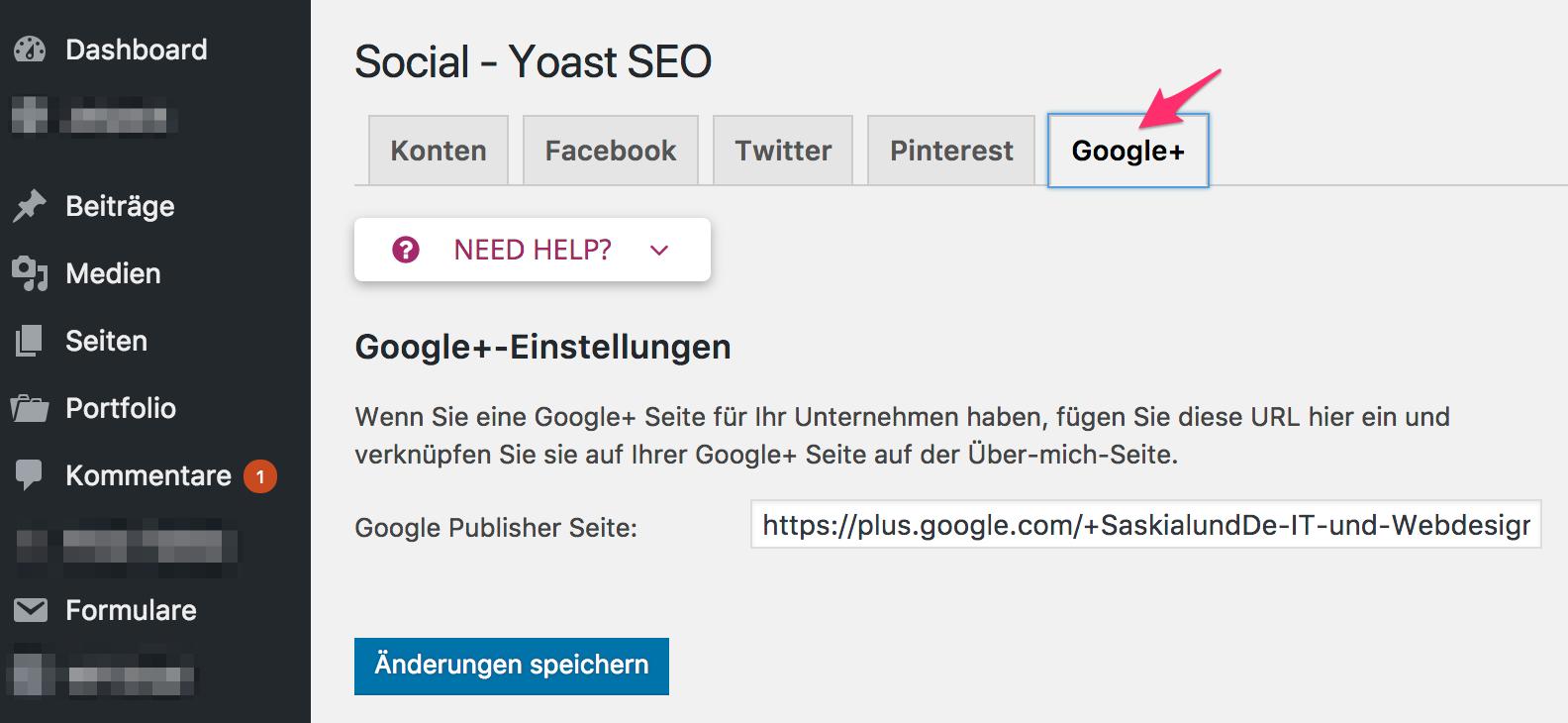 Yoast SEO Google+